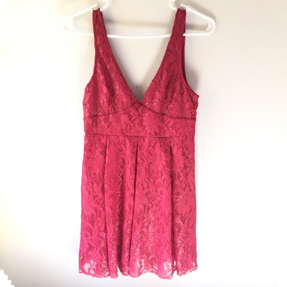 Free People Dresses & Skirts - Free People Red Lace Dress